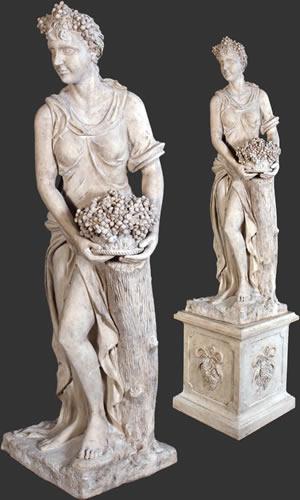 Statues Pedestal Historic Art Decor